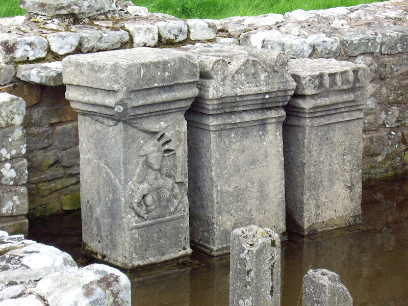 A Mithraeum, a temple to the god Mithras, at Mile 29. It had been raining heavily the week before and was still flooded.