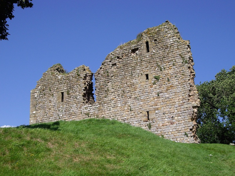 Thirlwall Castle, built in the 14th century to protect the region from Border Reivers. It was constructed with stones from Hadrian's Wall.