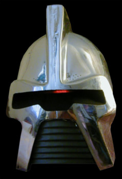 You can actually see the strong resemblance between the original Cylon Centurion helmet and the Harryhausen Talos' helm: both come from the same generic source.