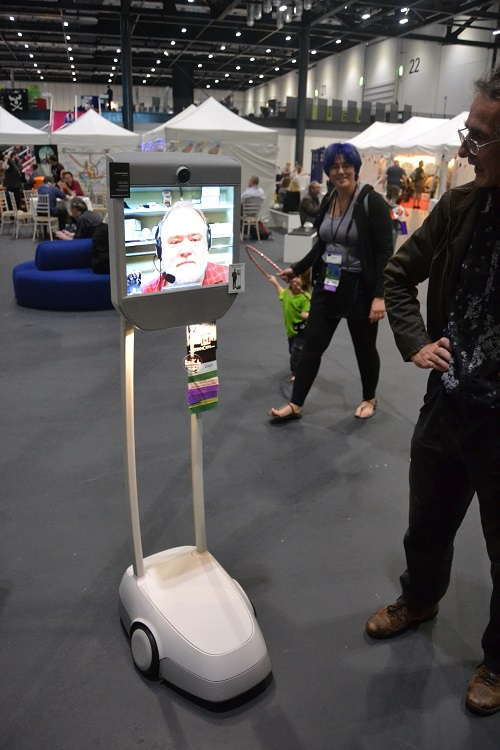 This guy attended Worldcon via a computer-controlled robot from the U.S.