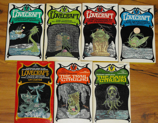 HP Lovecraft Ballantine Paperbacks-small