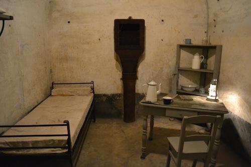 The fort's barracks were rather grim.