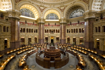 The Library of Congress Main Reading Room. Yowsah,