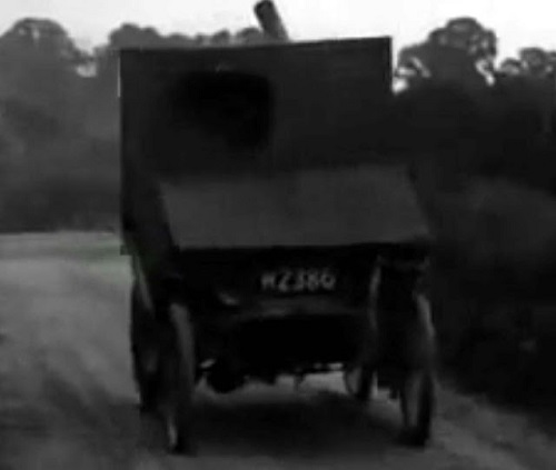 Can this armored car defeat the nefarious airships?