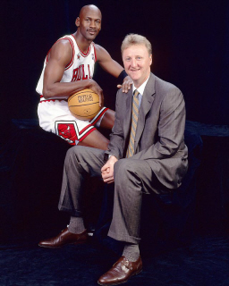 Larry Bird Michael Jordan-small