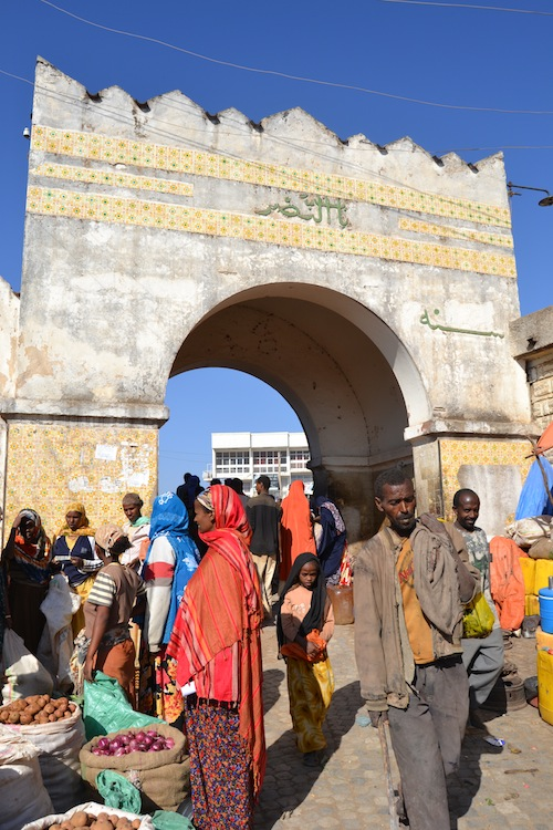 City gate of the walled city of Harar, Ethiopia. Photo copyright Sean McLachlan.