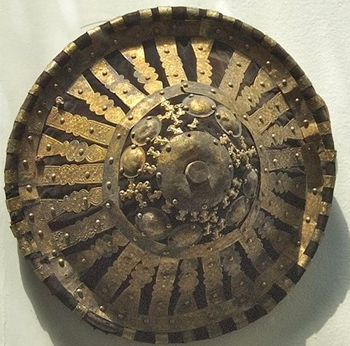 An Ethiopian decorated shield. Photo by A. Davey.