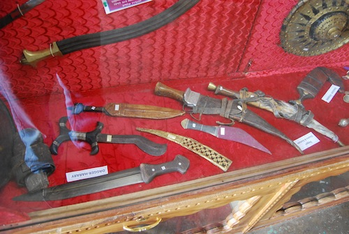 A variety of knives from across Ethiopia.