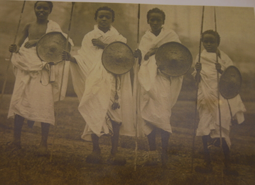 Somali boys playing at soldiers in the late nineteenth century.