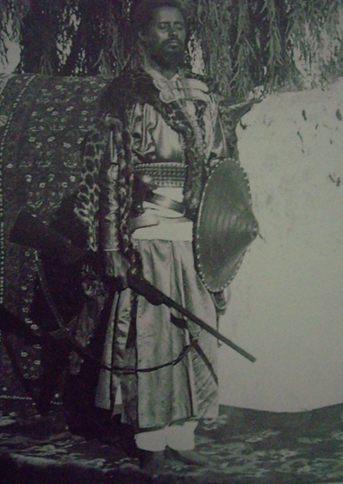 """Ras (""""Lord"""") Mekonnen of Harar. He was an important leader at the Battle of Adowa."""