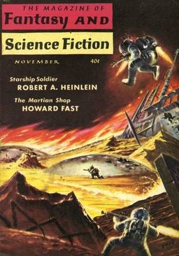 Magazine of Fantasy and Science Fiction Robert A Heinlein Starship Troopers-small