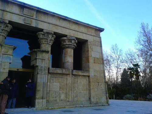 The front portal, showing the two types of pillars used. Photo copyright Almudena Alonso-Herrero.