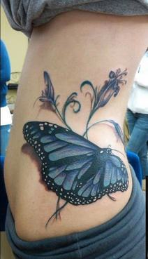 Big butterfly tattoo-small