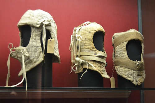 Padded helms from the Innsbruck collection, made in 1484.