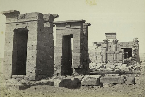 The temple as it appeared c.1862. Photo courtesy Francis Frith.