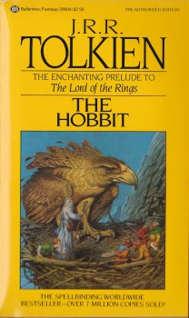 My Hobbit, the 1981 edition that I bought at my school book fair.