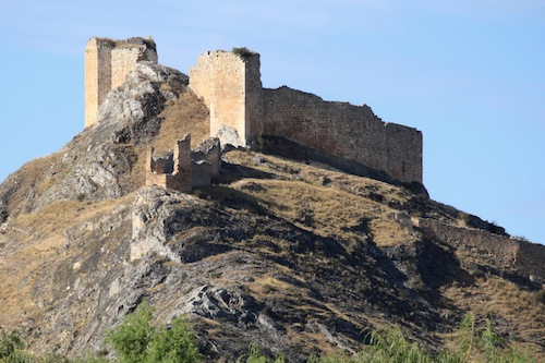 The Castle of Osma overlooking the city.