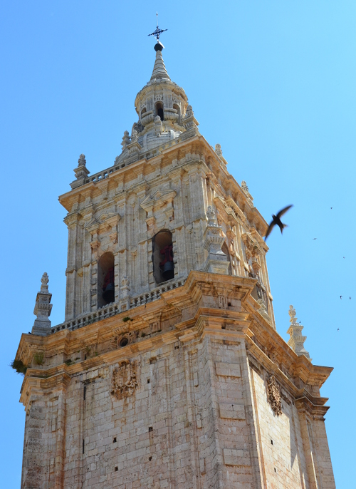 Like many Spanish cathedrals, the one at El Burgo de Osma has been added to over the years. The cathedral's Baroque tower was built in 1739.