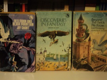 Three early Ballantine Adult Fantasy volumes