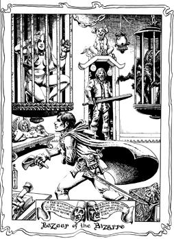 Bazaar of the Bizarre (artwork from The Silver Eel fanzine)