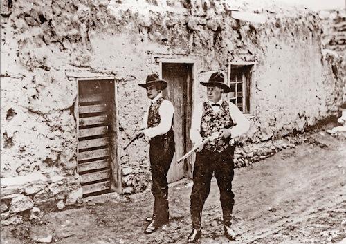 Jesse James Jr. (left) in a promotional still from Jesse James Under the Black Flag.