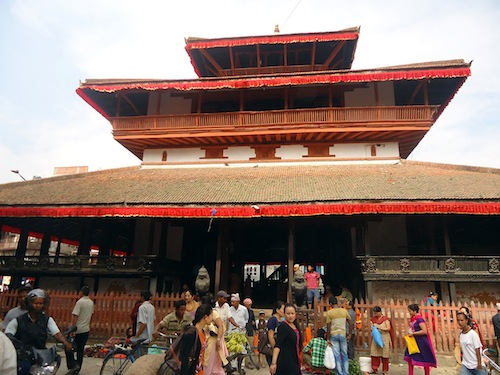 Kastamandapa, one of Kathmandu's oldest buildings, provides shelter to pilgrims and travelers. Photo courtesy Nirmal Dulal.