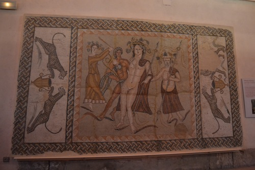 Roman mosaic from the House of Bacchus, Complutum. Copyright Julián McLachlan-Alonso.