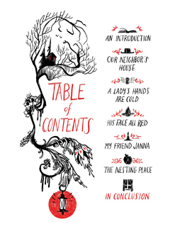 Through the Woods, table of contents
