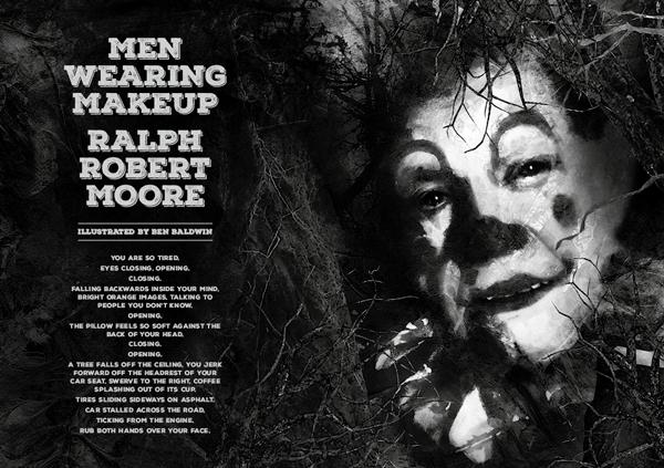 Black Static - Men Wearing Makeup by Ralph Robert Moore