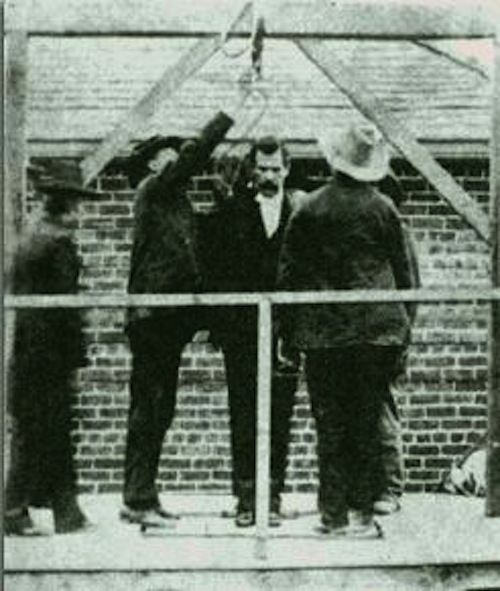 Tom Ketchum about to be hanged.
