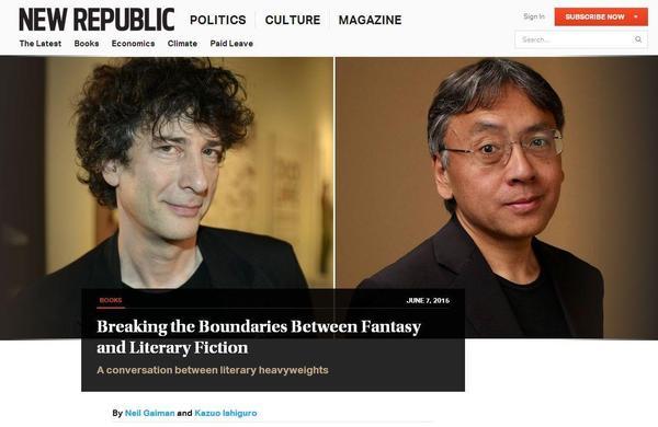 Neil Gaiman in The New Republic-small