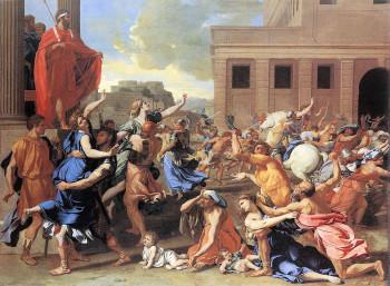 The Rape of the Sabine Women by Nicholas Poussin