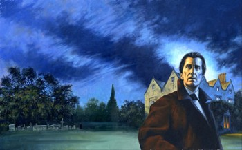 The full painting by Les Edwards. It was seriously cropped for the cover of Basil Copper's 'Solar Pons: The Final Cases.'