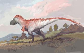tyrannosaurus rex with feathers