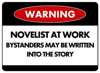 Warning Novelist-at-Work