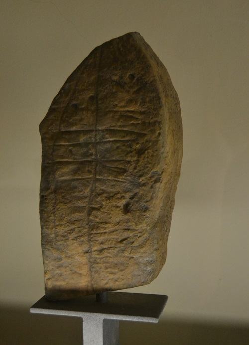 A Guanche carved stone in a museum in Tenerife.