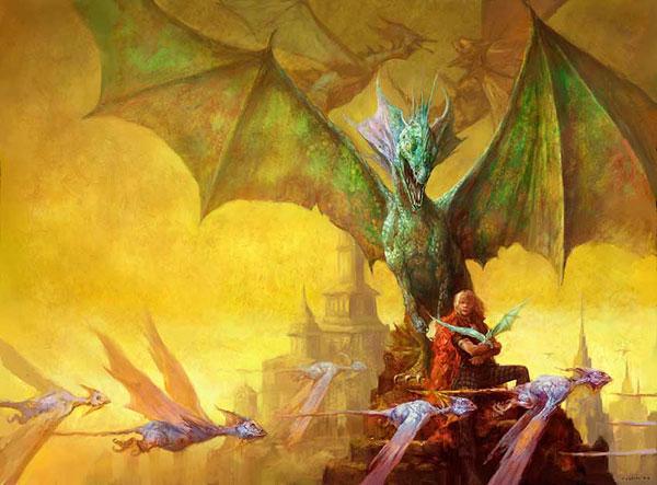 I'm Afraid You've Got Dragons art by Justin Sweet