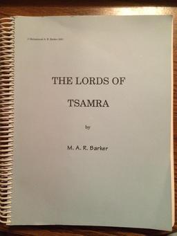 Lords of Tsamra, slef-published first edition (photo by Joseph Hoopman)