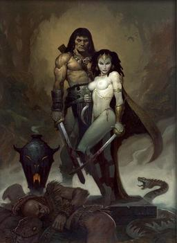 "Art by Brom for ""Queen of the Black Coast"""