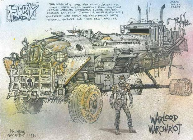 The Art of Mad Max Fury Road war chariot-small