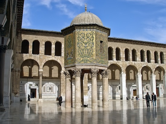 The Damascus treasury in the Ummayid Mosque.