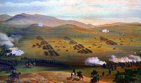 Charge of the Light Brigade from Russian positions