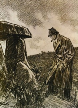 Twentieth Century Fox had Dorr Steele create some drawings in conjunction with their 1932 Hound of the Baskervilles release.