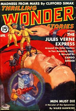 Thrilling Wonder Stories, April 1939, with """"