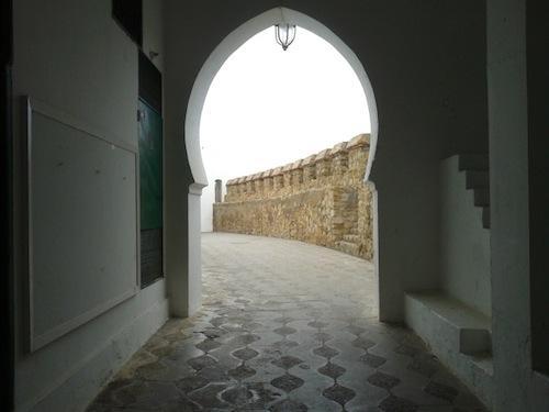 The walkway under Raisuni's palace.