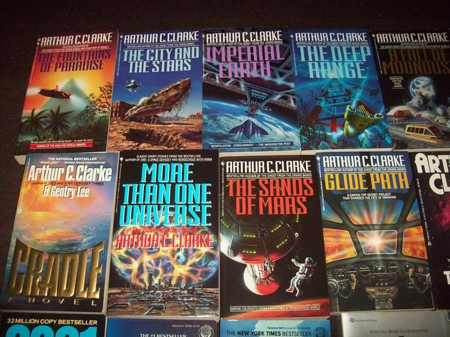 Arthur C. Clarke paperback collection-small