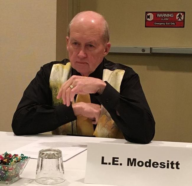 L.E. Modesitt at the 2015 World Fantasy Convention-small