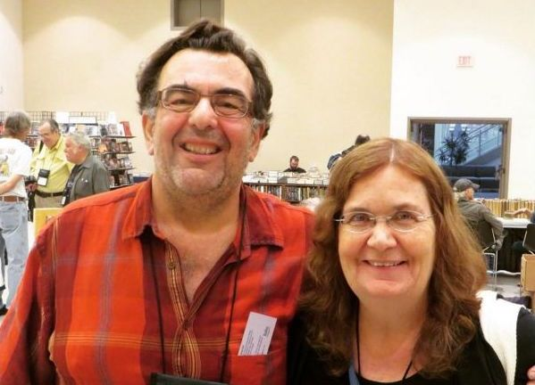 Paul DiFillipo and Sheila Williams in the Dealers Room at the 2015 World Fantasy Conventions-small