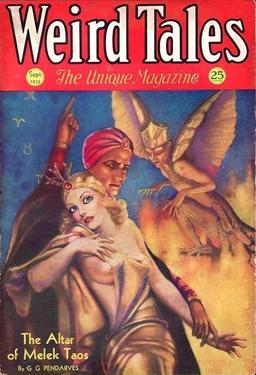 Weird Tales, September 1932. Cover by Margaret Brundage