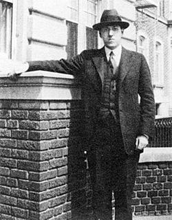 H.P. Lovecraft in Brooklyn, 1922.